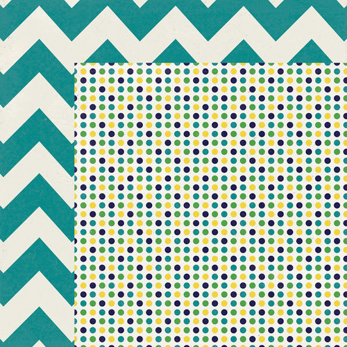 My Mind's Eye - Kate and Co Collection - Oxford Lane - 12 x 12 Double Sided Paper - Multi Dot