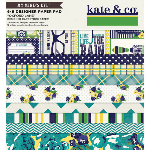 My Mind's Eye - Kate and Co Collection - Oxford Lane - 6 x 6 Paper Pad