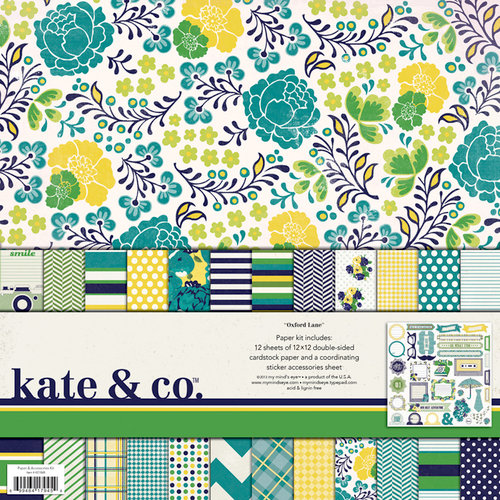 My Mind's Eye - Kate and Co Collection - Oxford Lane - 12 x 12 Paper Kit