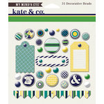 My Mind's Eye - Kate and Co Collection - Oxford Lane - Decorative Brads
