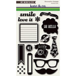 My Mind's Eye - Kate and Co Collection - Oxford Lane - Clear Acrylic Stamps