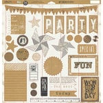 My Mind's Eye - Kraft Funday Collection - Everyday Fun - 12 x 12 Chipboard Stickers - Elements