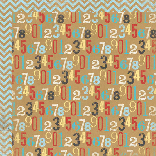 My Mind's Eye - Kraft Funday Collection - Happy Days - 12 x 12 Double Sided Kraft Paper - Countdown