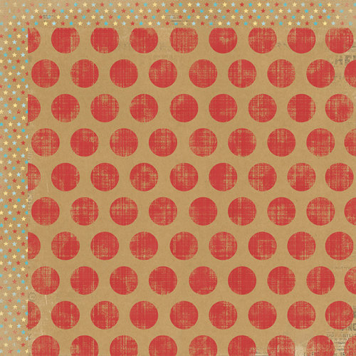 My Mind's Eye - Kraft Funday Collection - Happy Days - 12 x 12 Double Sided Kraft Paper - Lollipop Dots