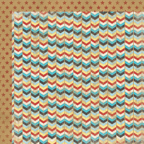 My Mind's Eye - Kraft Funday Collection - Happy Days - 12 x 12 Double Sided Kraft Paper - Super Star