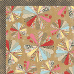 My Mind's Eye - Kraft Funday Collection - Happy Days - 12 x 12 Double Sided Kraft Paper - Patchwork Party