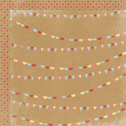 My Mind's Eye - Kraft Funday Collection - Happy Days - 12 x 12 Double Sided Kraft Paper - Sprinkles