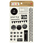 My Mind's Eye - Kraft Funday Collection - Everyday Fun - Clear Acrylic Stamps