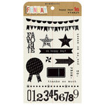 My Mind's Eye - Kraft Funday Collection - Happy Days - Clear Acrylic Stamps