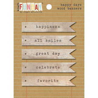 My Mind's Eye - Kraft Funday Collection - Happy Days - Wood Banners
