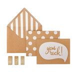 My Mind's Eye - Kraft Collection - Card Box Kit - You Rock