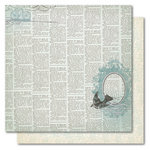 My Mind's Eye - Portobello Road Collection - 12 x 12 Double Sided Glitter Paper - Party Looking Glass, CLEARANCE