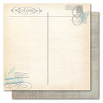 My Mind's Eye - Portobello Road Collection - 12 x 12 Double Sided Glitter Paper - Family First Class, CLEARANCE