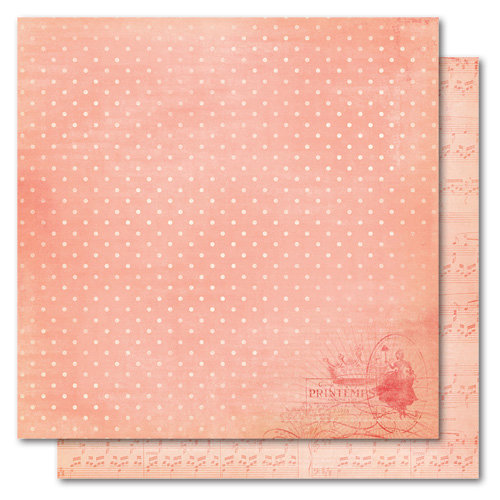 My Mind's Eye - Market Street Collection - 12 x 12 Double Sided Paper - Princess Lovely Lady, CLEARANCE