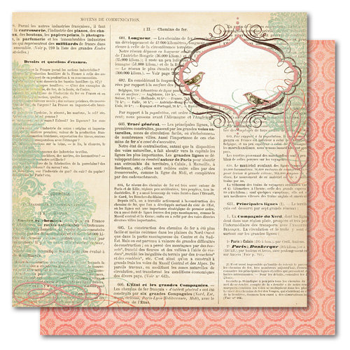 My Mind's Eye - Market Street Collection - 12 x 12 Double Sided Glitter Paper - Happy Birthday Dictionary, CLEARANCE