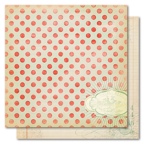 My Mind's Eye - Market Street Collection - 12 x 12 Double Sided Paper - Love Demure, CLEARANCE