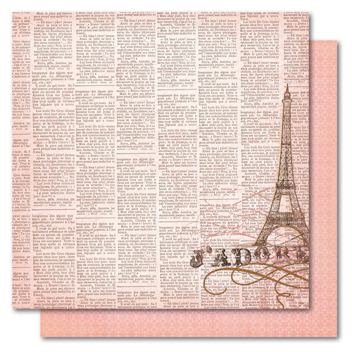 My Mind's Eye - Madison Avenue Collection - 12 x 12 Double Sided Glitter Paper - Girlfriends J'adore, CLEARANCE