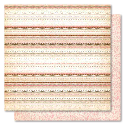 My Mind's Eye - Madison Avenue Collection - 12 x 12 Double Sided Glitter Paper - Sisters Lace, CLEARANCE