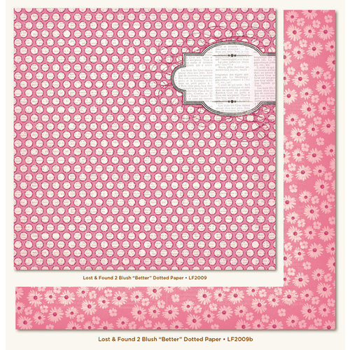 My Mind's Eye - Lost and Found 2 Collection - Blush - 12 x 12 Double Sided Glitter Paper - Better Dotted