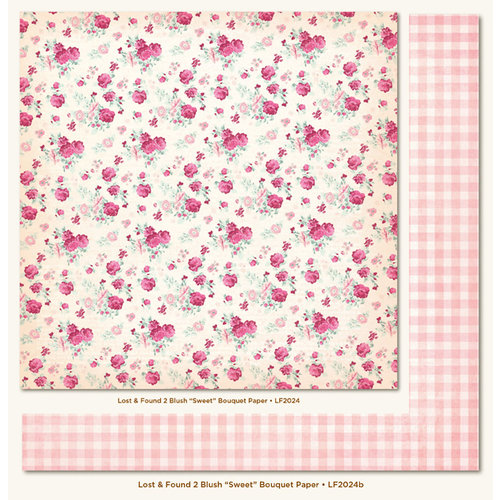 My Mind's Eye - Lost and Found 2 Collection - Blush - 12 x 12 Double Sided Paper - Sweet Bouquet