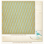 My Mind's Eye - Lost and Found 2 Collection - Breeze - 12 x 12 Double Sided Glitter Paper - Boyish Plaid
