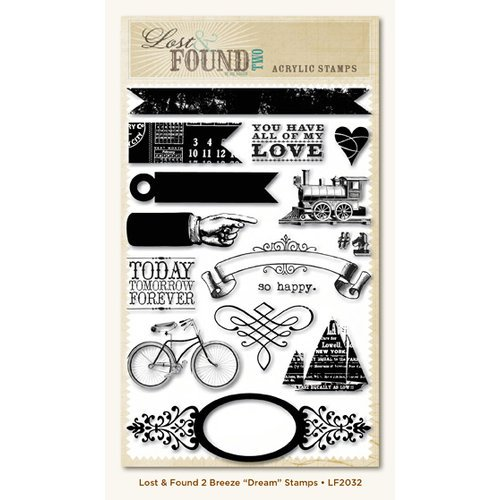 My Mind's Eye - Lost and Found 2 Collection - Breeze - Clear Acrylic Stamps - Dream