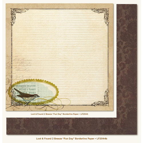 My Mind's Eye - Lost and Found 2 Collection - Breeze - 12 x 12 Double Sided Paper - Fun Day Borderline