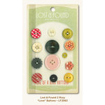 My Mind's Eye - Lost and Found 2 Collection - Rosy - Buttons - Love