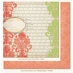 My Mind's Eye - Lost and Found 2 Collection - Rosy - 12 x 12 Double Sided Glitter Paper - Love Stamped