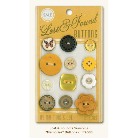 My Mind's Eye - Lost and Found 2 Collection - Sunshine - Buttons - Memories