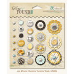My Mind's Eye - Lost and Found 2 Collection - Sunshine - Decorative Brads with Glitter Accents - Sunshine