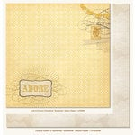 My Mind's Eye - Lost and Found 2 Collection - Sunshine - 12 x 12 Double Sided Glitter Paper - Sunshine Adore