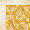 My Mind's Eye - Lost and Found 3 Collection - Oliver - 12 x 12 Double Sided Paper - Yellow Floral
