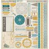 My Mind's Eye - Lost and Found 3 Collection - Oliver - 12 x 12 Chipboard Stickers - Elements
