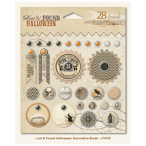 My Mind's Eye - Lost and Found Collection - Halloween - Decorative Brads