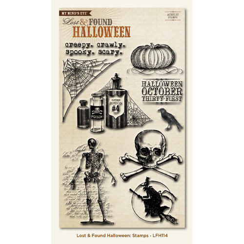 My Mind's Eye - Lost and Found Collection - Halloween - Clear Acrylic Stamps