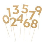 My Mind's Eye - Vintage Collection - Large Party Picks - Numbers with Glitter Accents