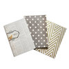My Mind's Eye - Vintage Collection - Notebooks with Gold Glitter Accents