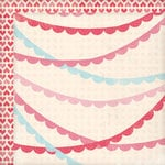 My Mind's Eye - Love Me Collection - 12 x 12 Double Sided Paper - Doily Banners
