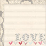 My Mind's Eye - Love Me Collection - 12 x 12 Double Sided Paper - Love