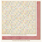 My Mind's Eye - Miss Caroline Collection - Fiddlesticks - 12 x 12 Double Sided Paper - Home Dotted