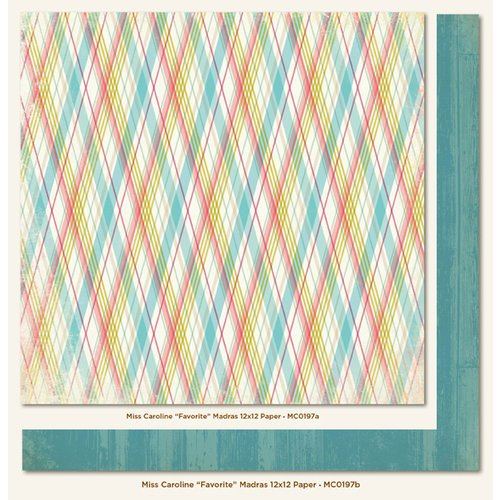 My Mind's Eye - Miss Caroline Collection - Dolled Up - 12 x 12 Double Sided Paper - Favorite Madras