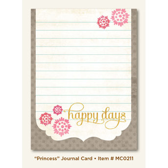 My Mind's Eye - Miss Caroline Collection - Dolled Up - Journal Card - Princess