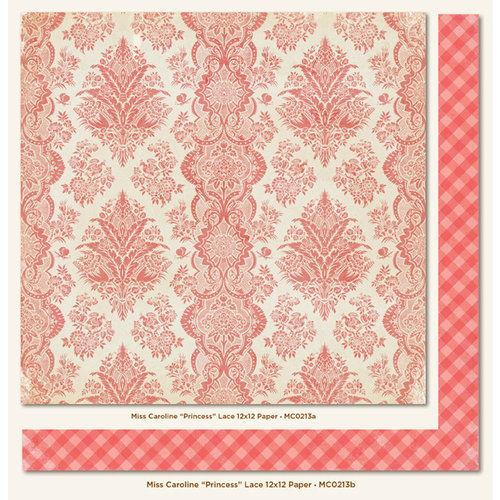 My Mind's Eye - Miss Caroline Collection - Dolled Up - 12 x 12 Double Sided Paper - Princess Lace