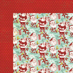 My Mind's Eye - Mistletoe Magic Collection - Christmas - 12 x 12 Double Sided Paper - Santas