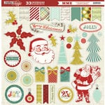 My Mind's Eye - Mistletoe Magic Collection - Christmas - 12 x 12 Chipboard Stickers