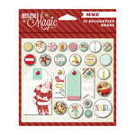 My Mind's Eye - Mistletoe Magic Collection - Christmas - Decorative Brads