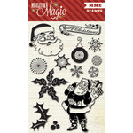 My Mind's Eye - Mistletoe Magic Collection - Christmas - Clear Acrylic Stamps