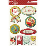 My Mind's Eye - Mistletoe Magic Collection - Christmas - 3 Dimensional Stickers