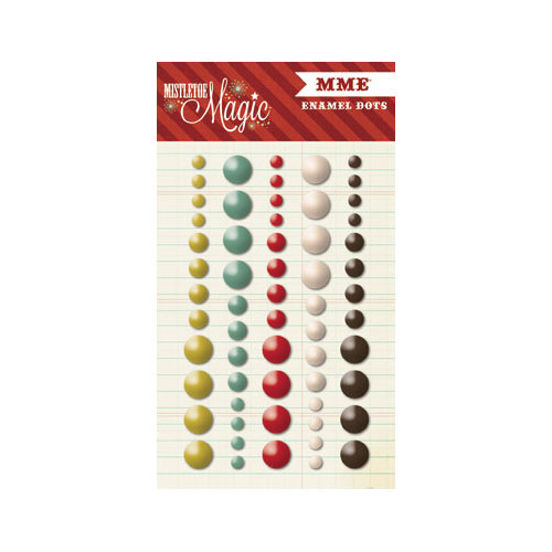 My Mind's Eye - Mistletoe Magic Collection - Christmas - Enamel Dots